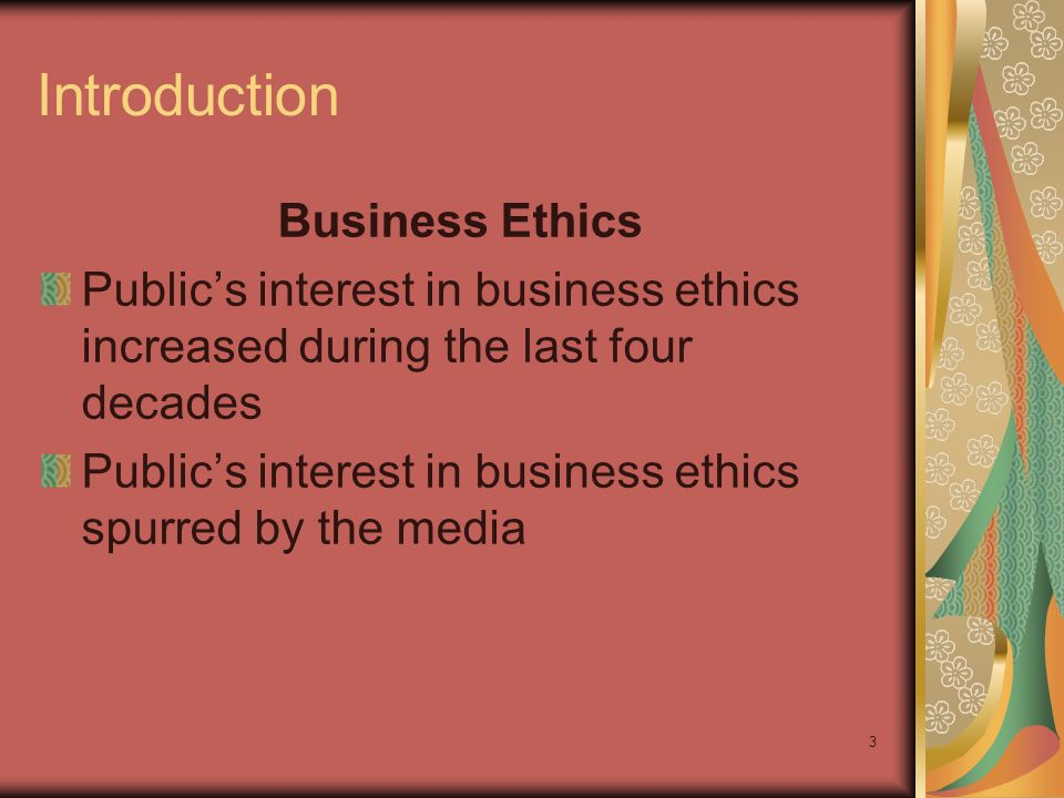 Introduction Business Ethics