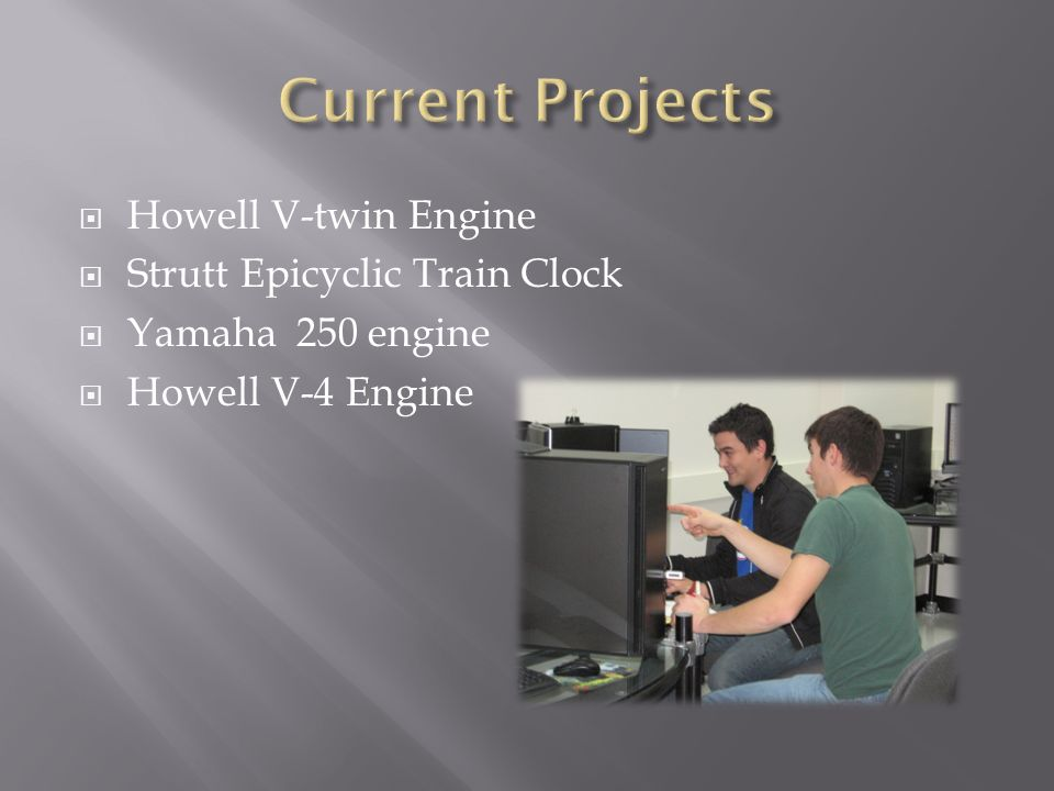 Current Projects Howell V-twin Engine Strutt Epicyclic Train Clock