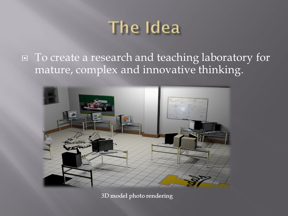 The Idea To create a research and teaching laboratory for mature, complex and innovative thinking.