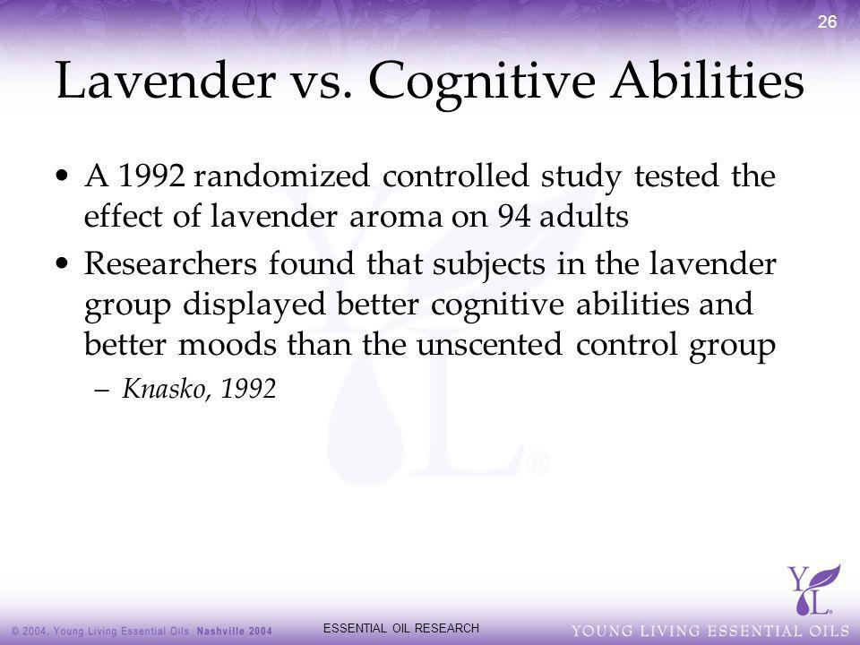 Lavender vs. Cognitive Abilities