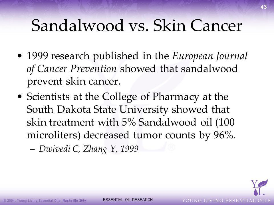 Sandalwood vs. Skin Cancer
