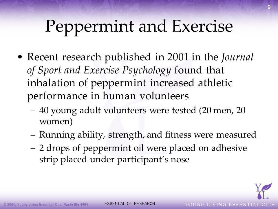 Peppermint and Exercise