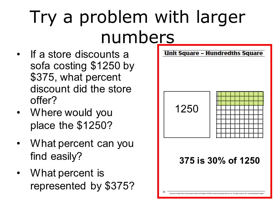 Try a problem with larger numbers