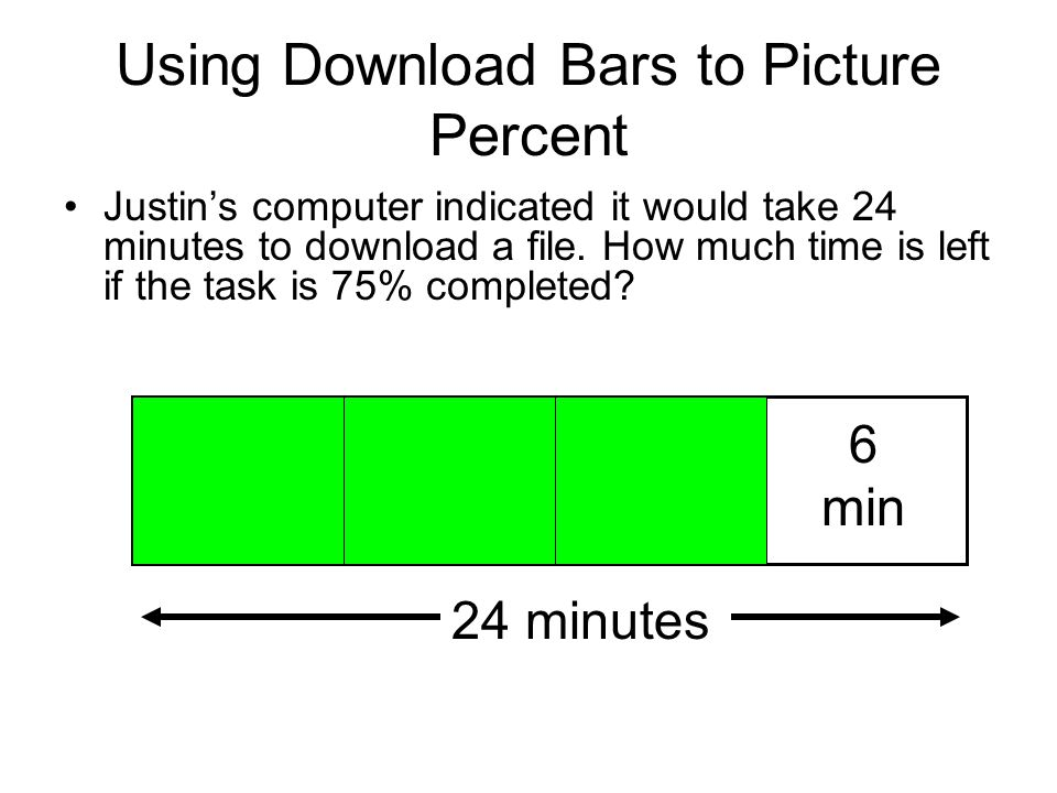 Using Download Bars to Picture Percent
