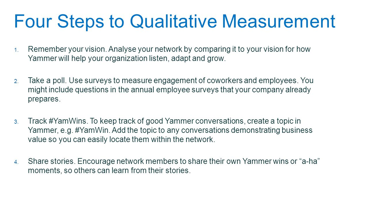 Four Steps to Qualitative Measurement
