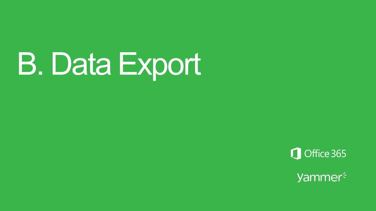 B. Data Export