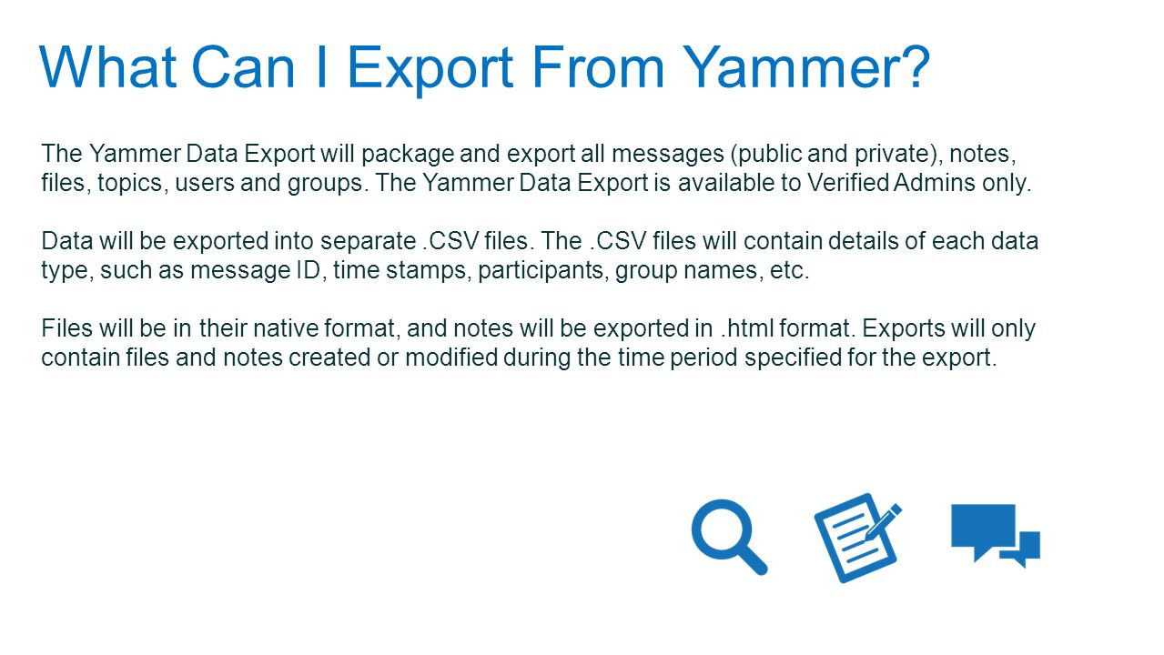 What Can I Export From Yammer