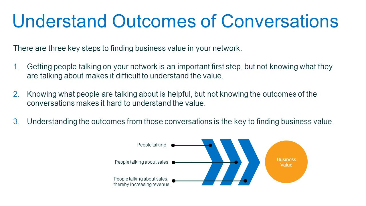 Understand Outcomes of Conversations