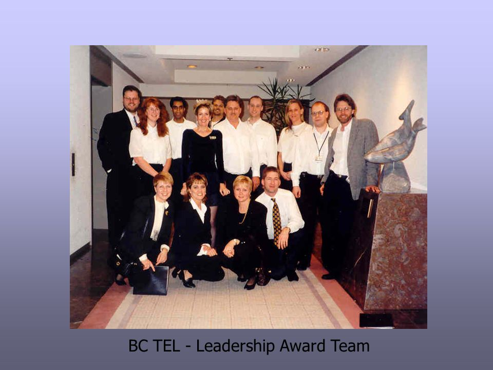 BC TEL - Leadership Award Team