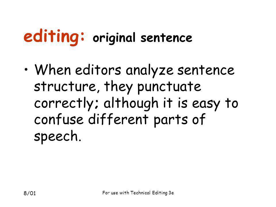 editing: original sentence
