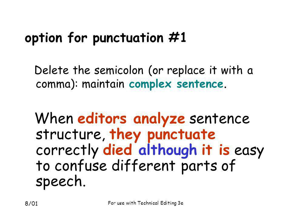 option for punctuation #1