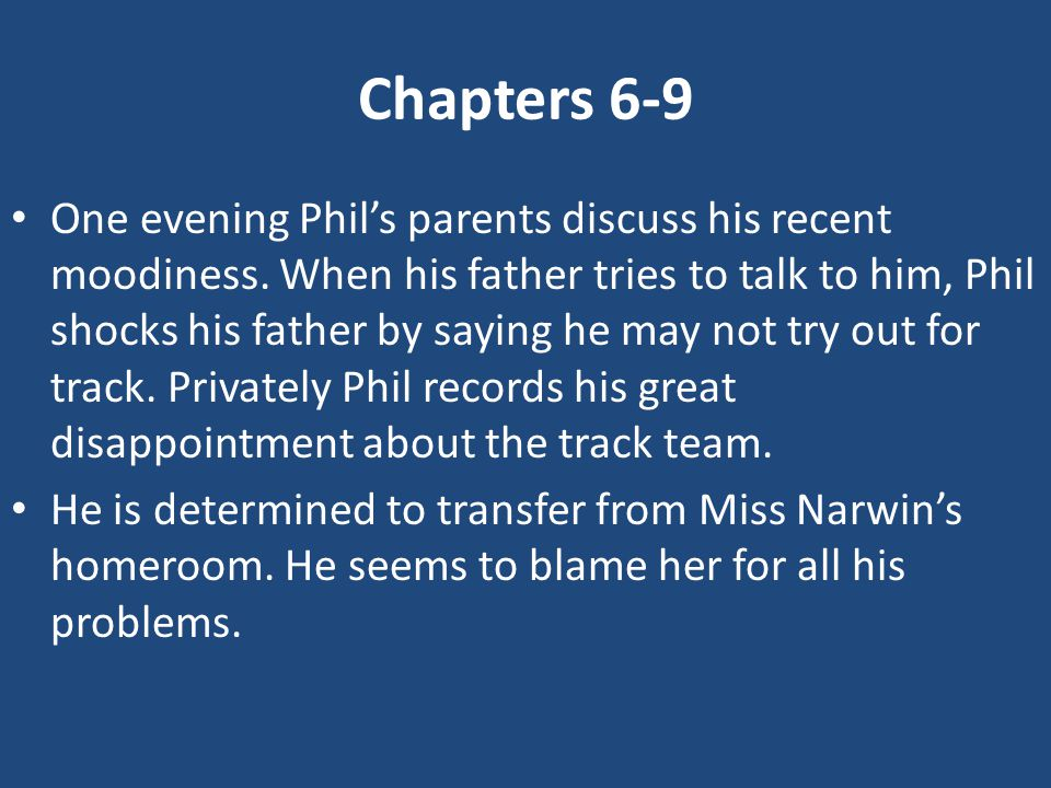 Chapters 6-9