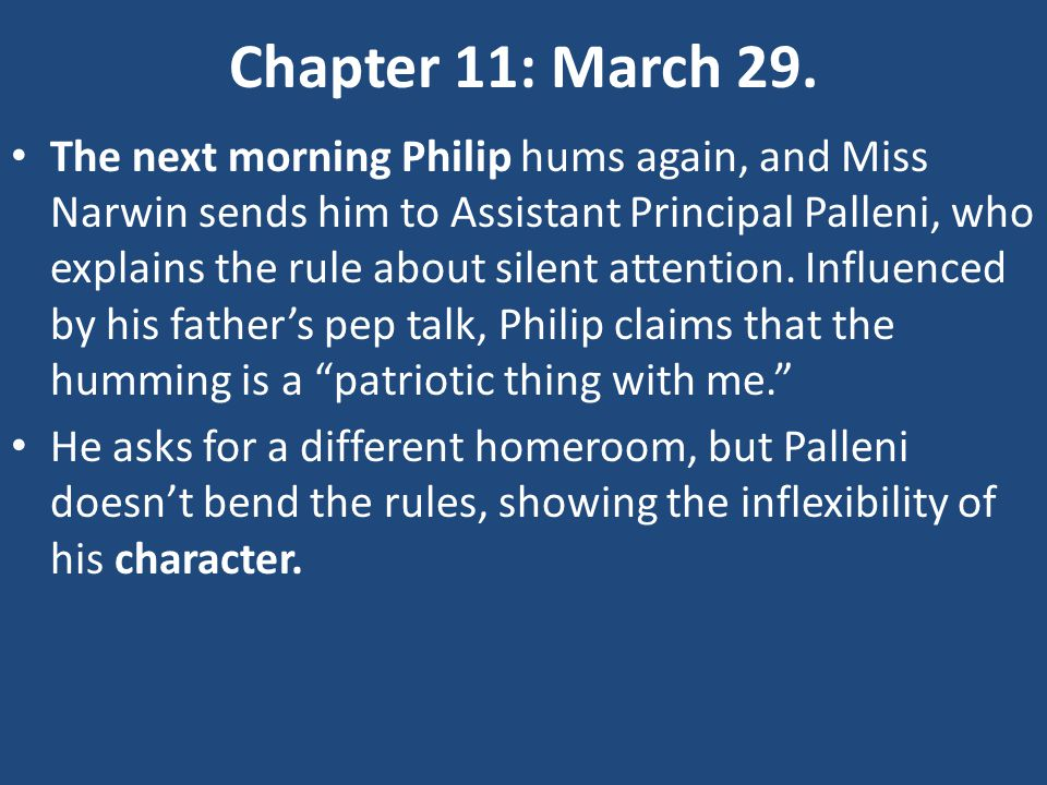 Chapter 11: March 29.