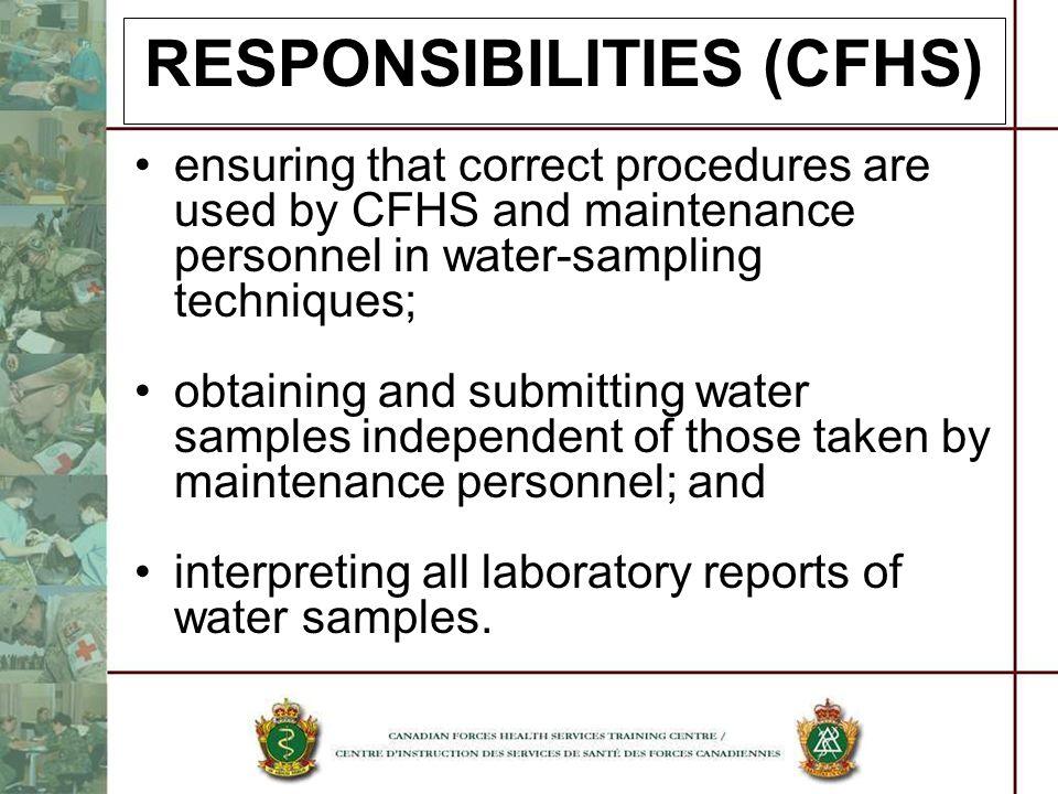 RESPONSIBILITIES (CFHS)