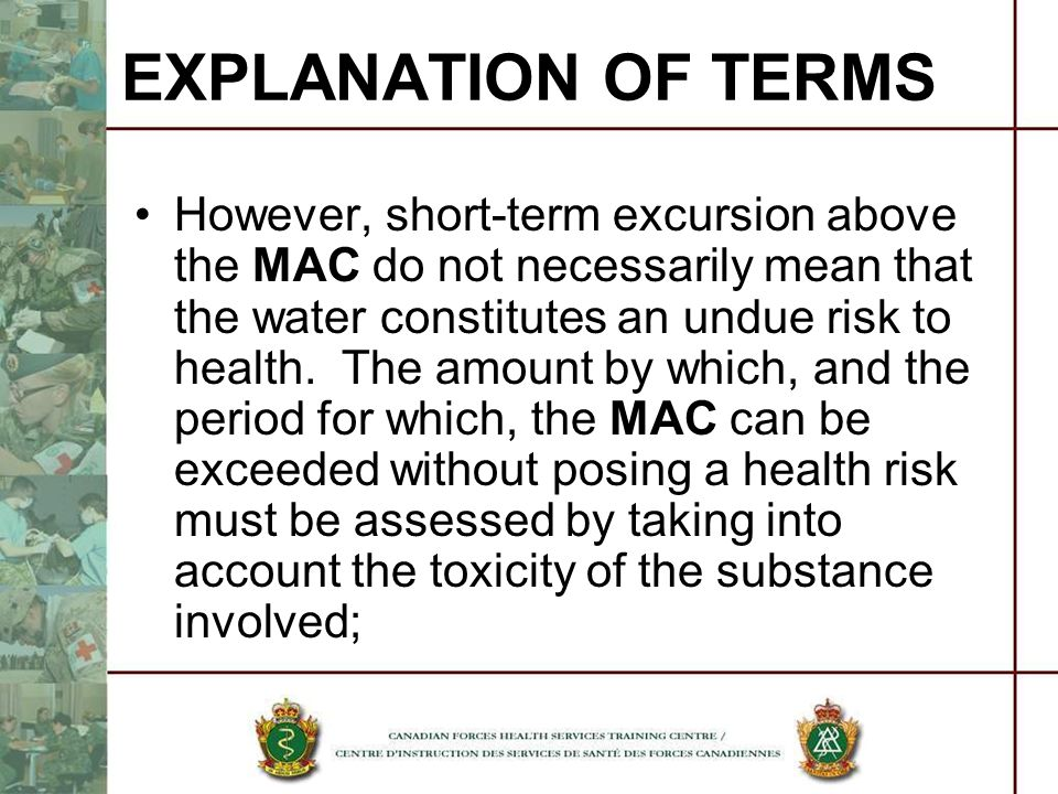 EXPLANATION OF TERMS