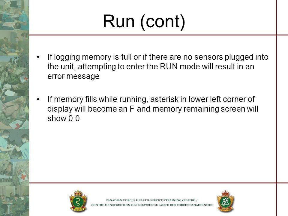 Run (cont)