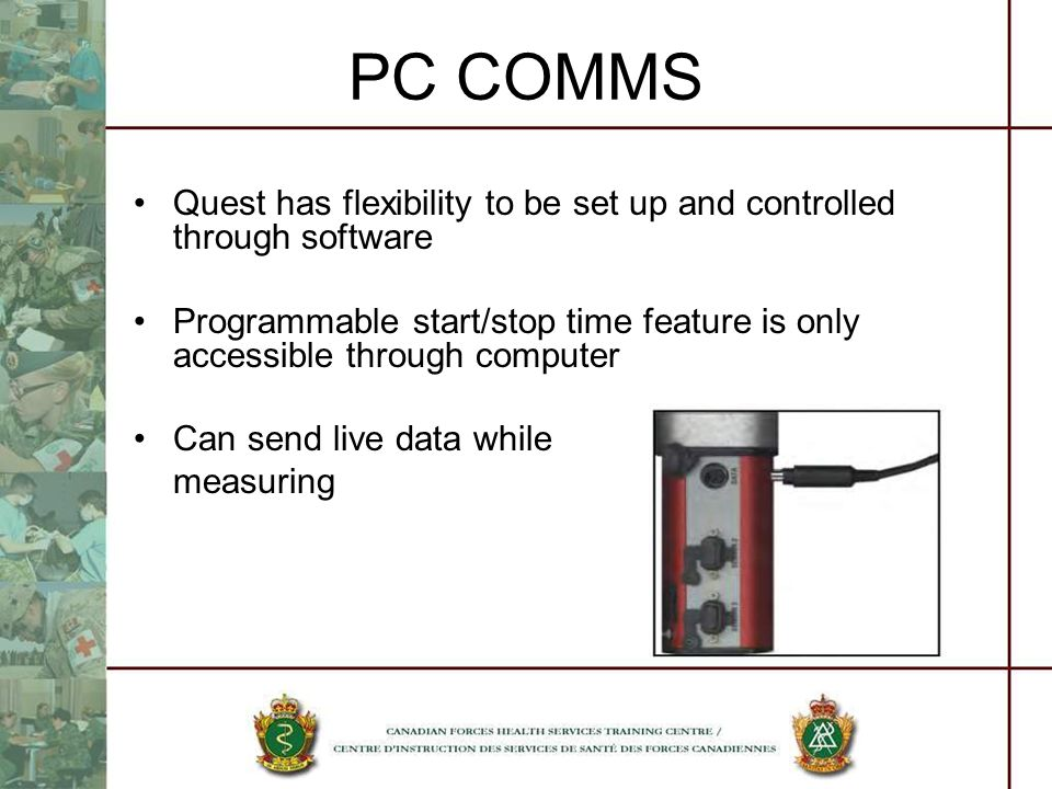 PC COMMS Quest has flexibility to be set up and controlled through software.