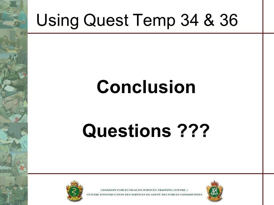 Using Quest Temp 34 & 36 Conclusion Questions