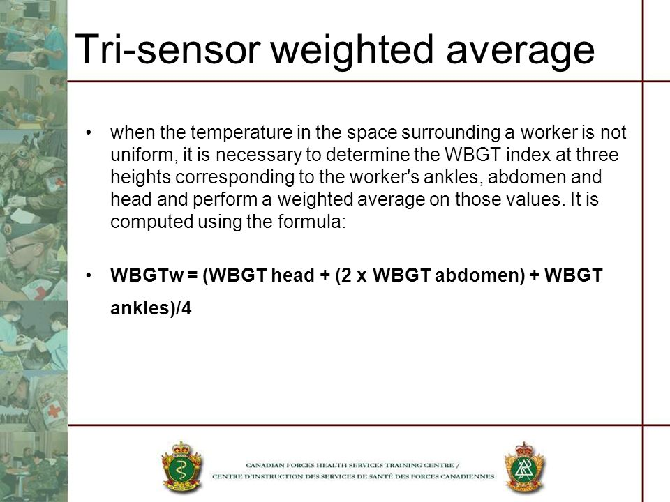 Tri-sensor weighted average