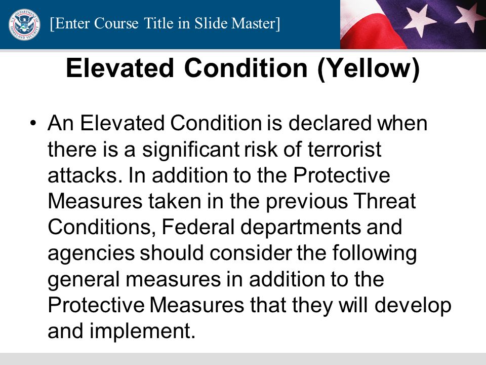 Elevated Condition (Yellow)