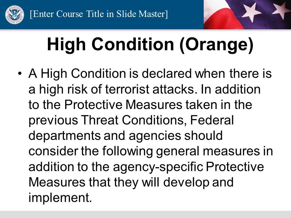 High Condition (Orange)