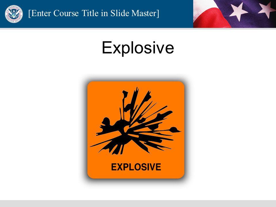 Explosive E-Explosives Material