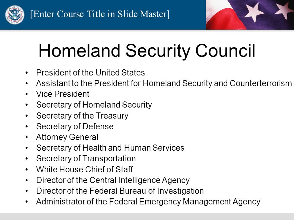 Homeland Security Council