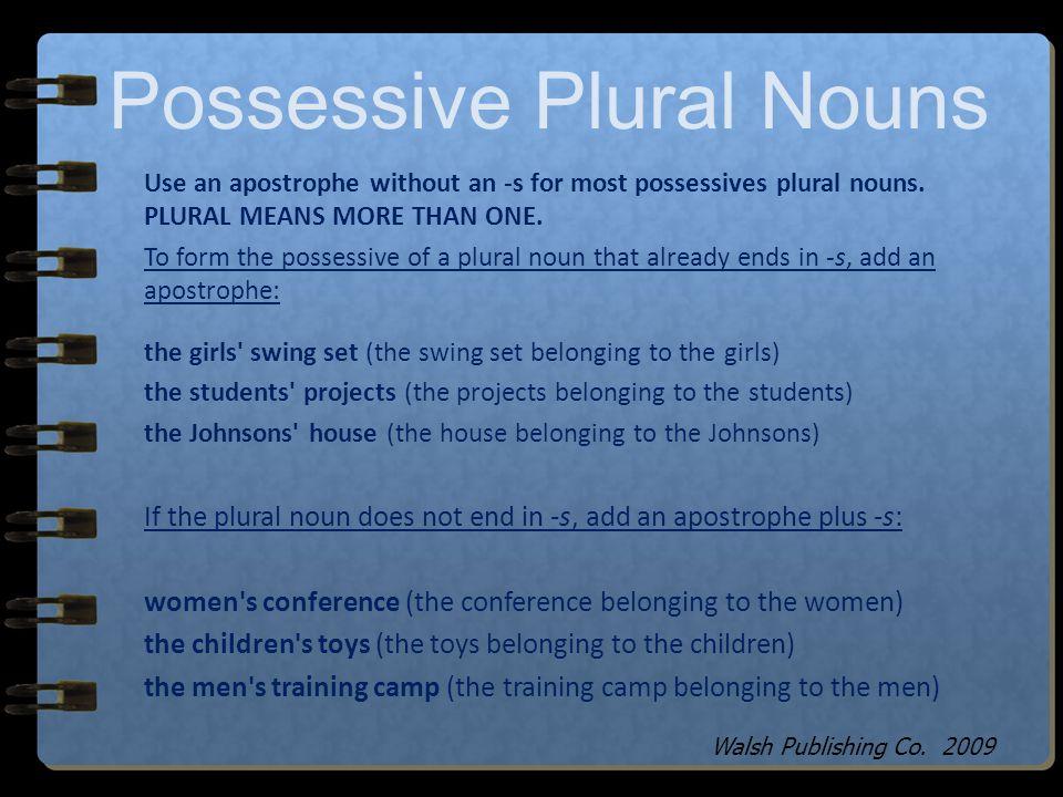 Possessive Plural Nouns