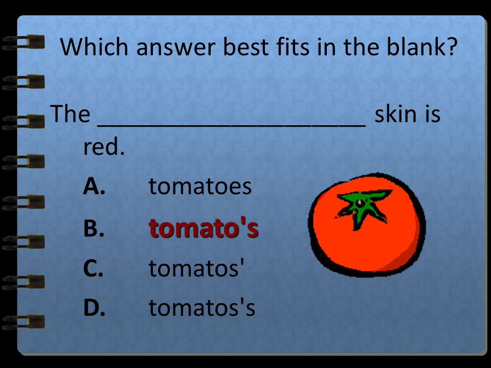 Which answer best fits in the blank