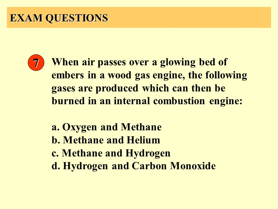 EXAM QUESTIONS 7.