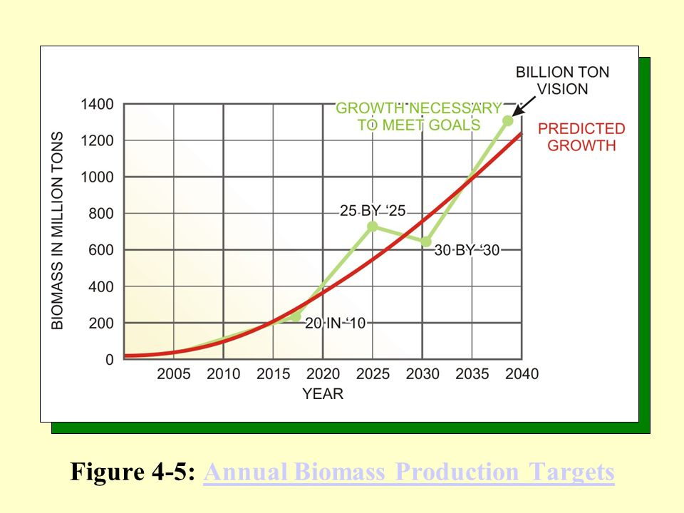 Figure 4-5: Annual Biomass Production Targets