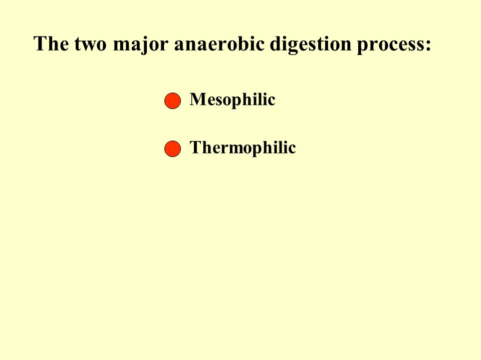 The two major anaerobic digestion process: