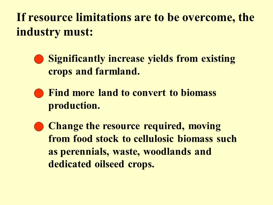 If resource limitations are to be overcome, the industry must: