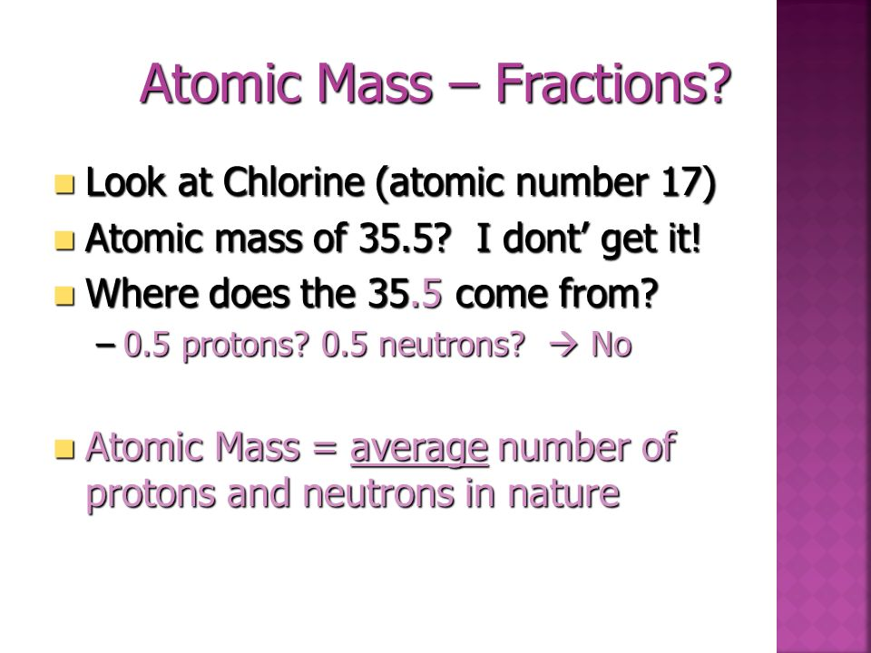 Atomic Mass – Fractions