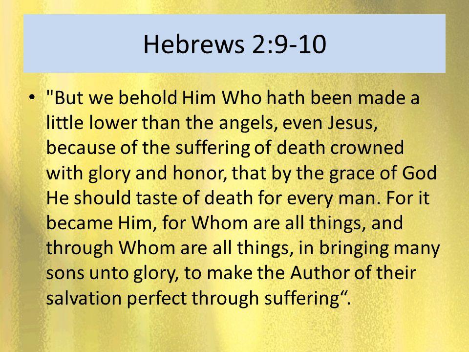 Hebrews 2:9-10