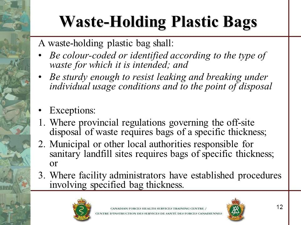 Waste-Holding Plastic Bags
