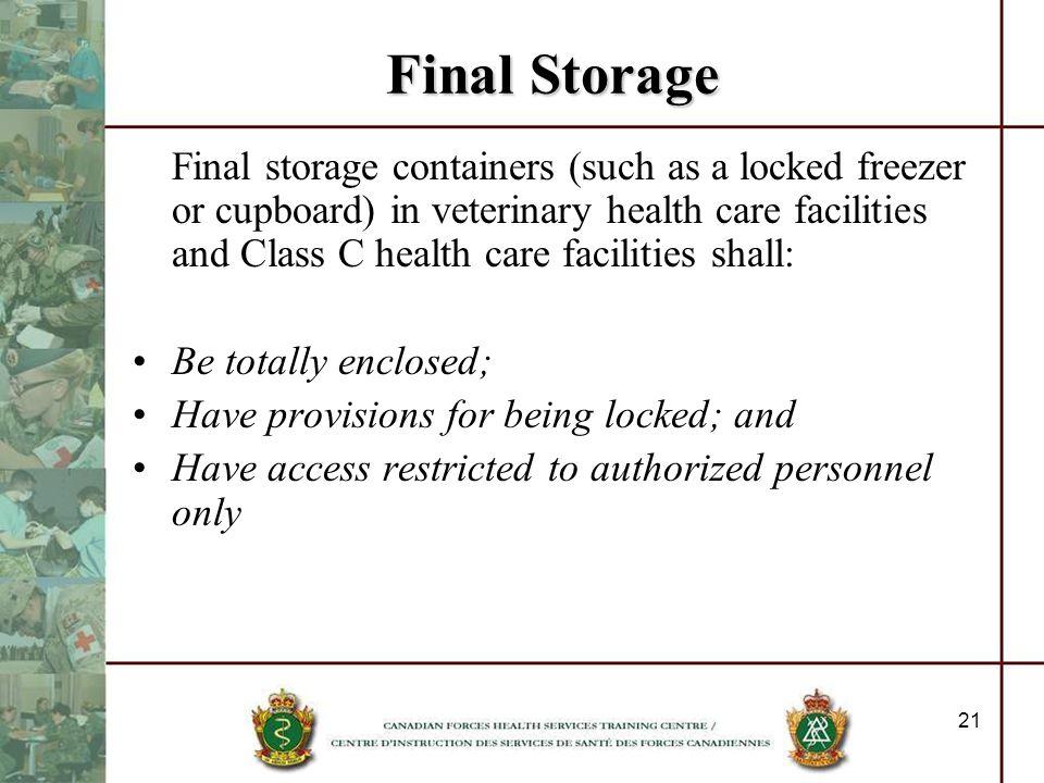 Final Storage