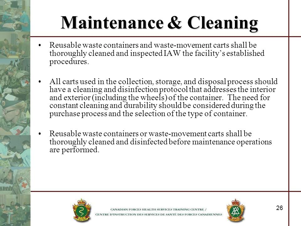 Maintenance & Cleaning