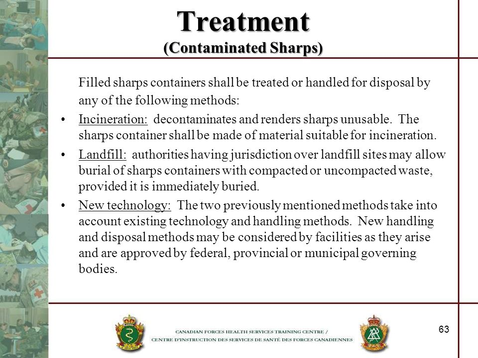 Treatment (Contaminated Sharps)