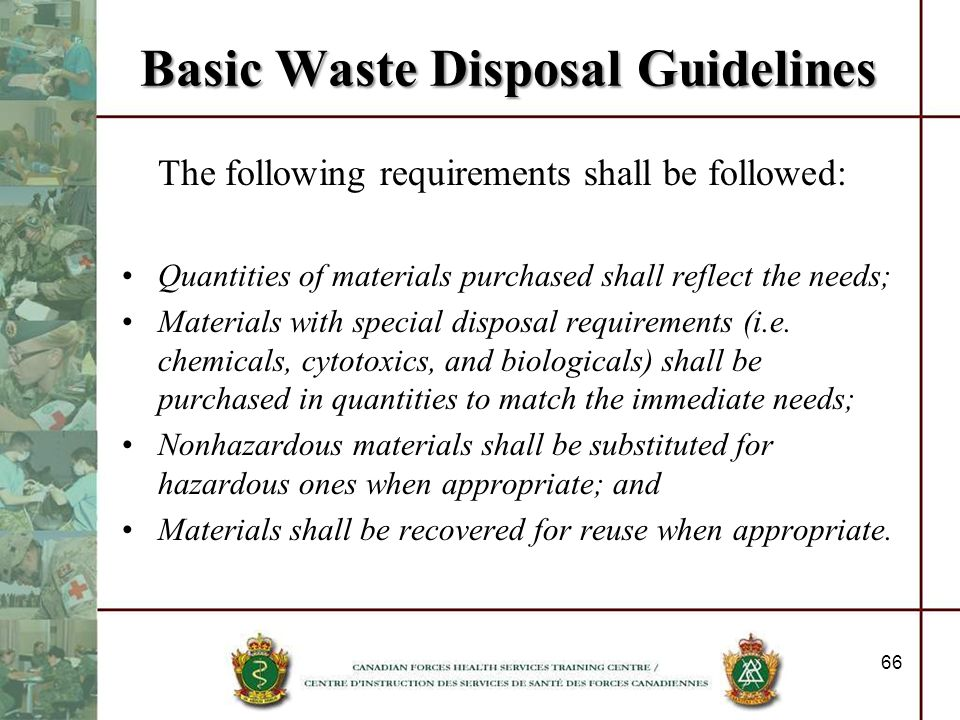Basic Waste Disposal Guidelines
