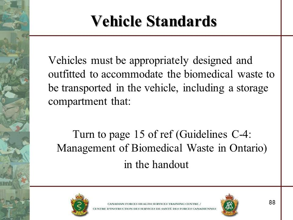 Vehicle Standards
