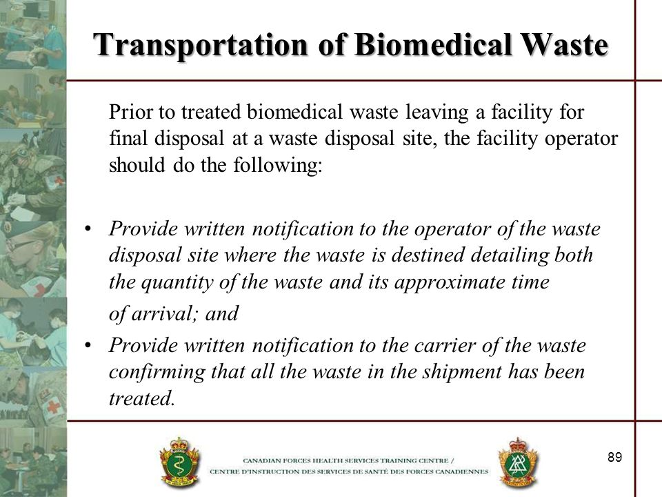 Transportation of Biomedical Waste