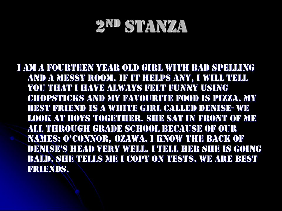 2nd Stanza