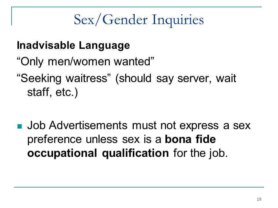 Sex/Gender Inquiries Only men/women wanted