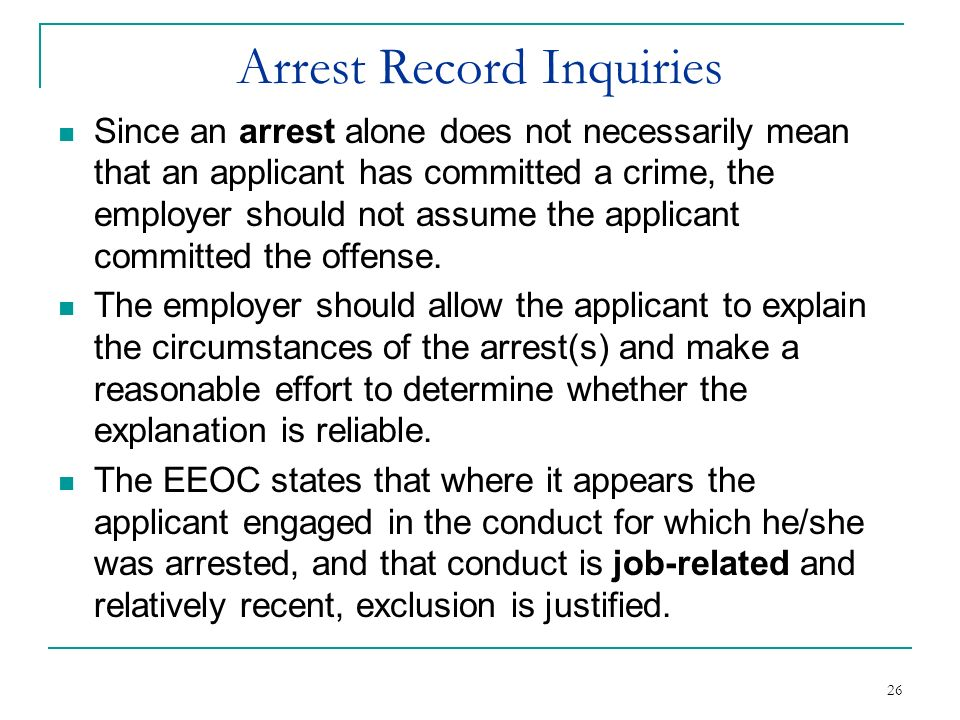 Arrest Record Inquiries