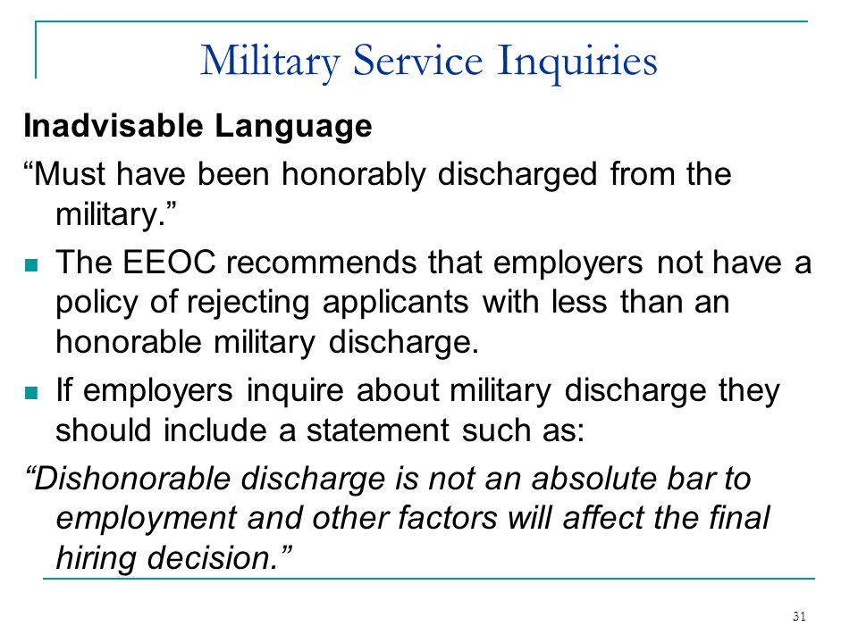 Military Service Inquiries