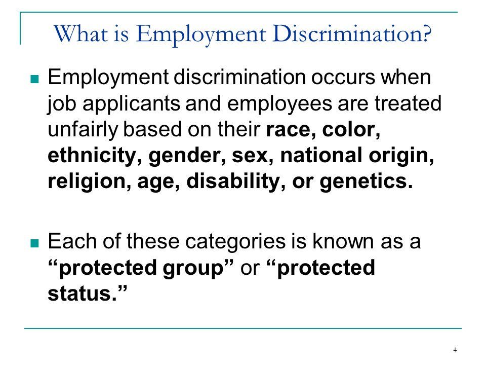 What is Employment Discrimination
