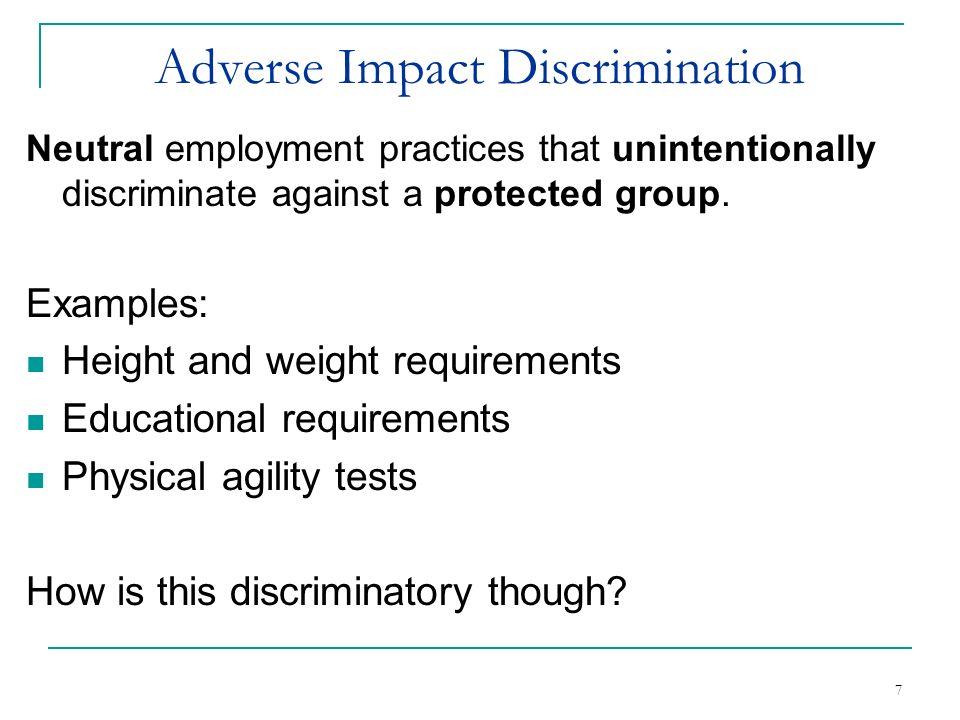 Adverse Impact Discrimination
