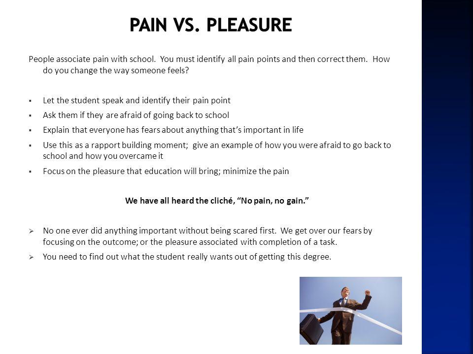 We have all heard the cliché, No pain, no gain.