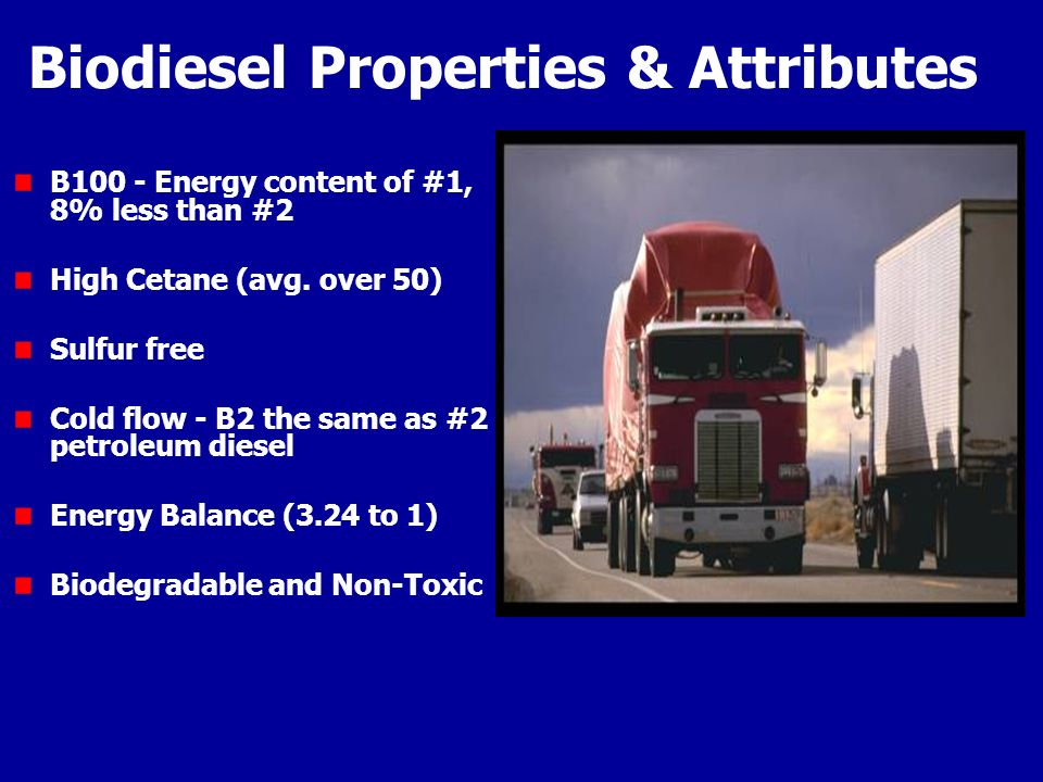 Biodiesel Properties & Attributes
